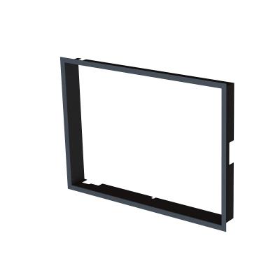 Zazdívací rámeček 1x90° černý BeF Aquatic WH 60, 65 (V)